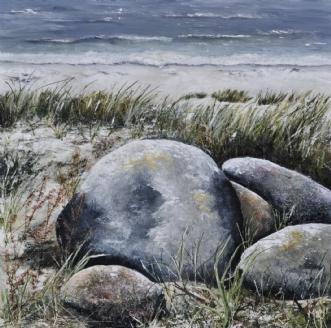 sten langs vandet nr 1afMerete Roy