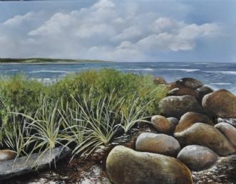 Strandsten nr 1 by Merete Roy | maleri