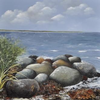 Strandsten nr 2 by Merete Roy | maleri