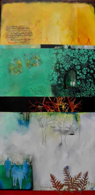 Hule i grønt by Elsebeth Altschuler | maleri