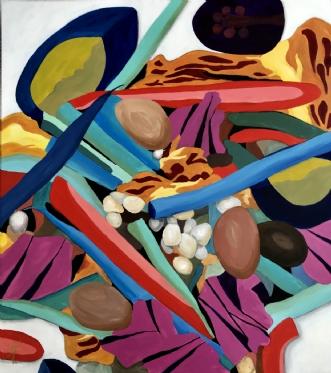 Salat Nicoise by Elsebeth Altschuler | maleri