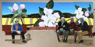 Forår på bænken by Elsebeth Altschuler | maleri