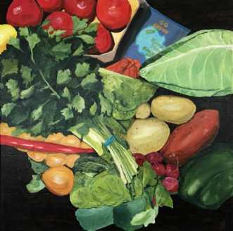 Aarstiderne 1 by Elsebeth Altschuler | maleri