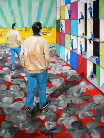 Astahuset by Elsebeth Altschuler | maleri