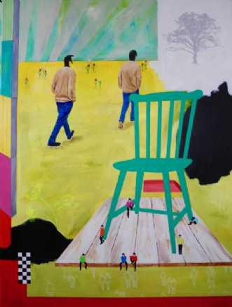 Grøn stol by Elsebeth Altschuler | maleri