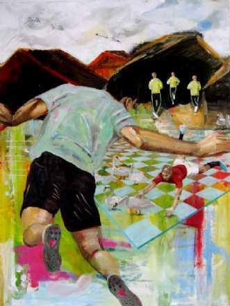 Svanespil by Elsebeth Altschuler | maleri