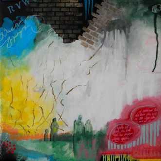Indien I by Elsebeth Altschuler | maleri