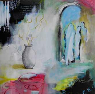 Indien II by Elsebeth Altschuler | maleri