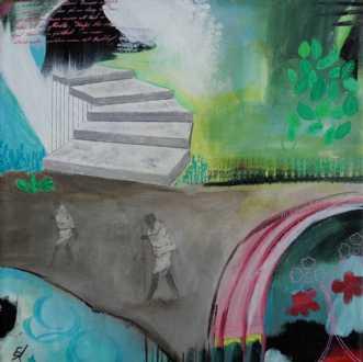 Indien III by Elsebeth Altschuler | maleri