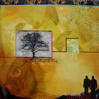 Træ i gult by Elsebeth Altschuler | maleri