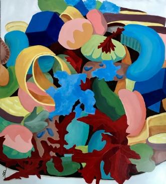 Bønnesalat by Elsebeth Altschuler | maleri