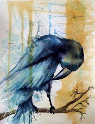 Ravn by Gitte Marie Michelsen | maleri
