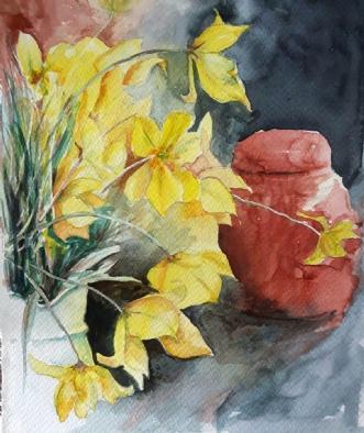 Vilde tulipaner  by Gitte Marie Michelsen | maleri