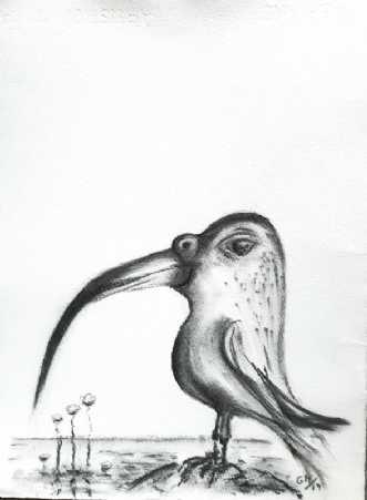 Spøgefugl by Gitte Marie Michelsen | tegning