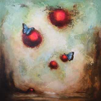 You give me butterf.. by Majbrit Skou | maleri