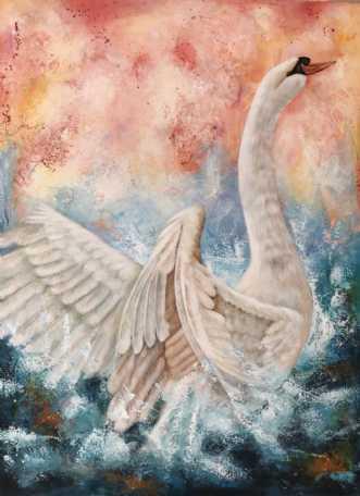 Swan by Majbrit Skou | maleri