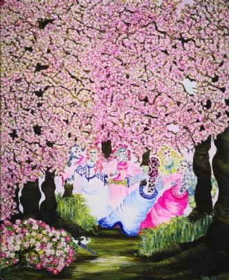 The Dancing Elves i.. by Malouca Metthe Agerbo Thomassen | maleri