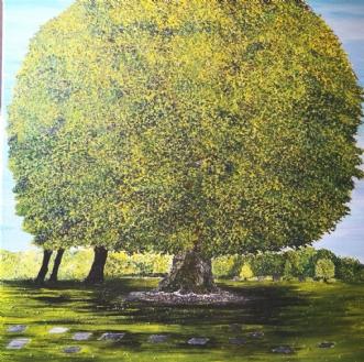 Værnetræet  by Malouca Metthe Agerbo Thomassen | maleri