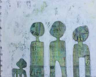 Mixed media 2 by Heidi Stampe | maleri