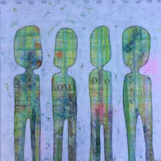 Mixed media 5 by Heidi Stampe | maleri