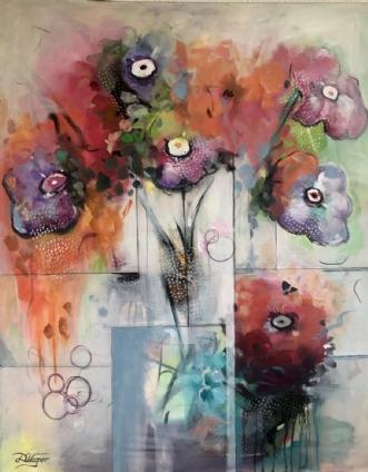 PURPLE BLOSSOMS by Dorrit Wagner | maleri