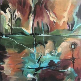 NATURENS LUNER by Dorrit Wagner | maleri