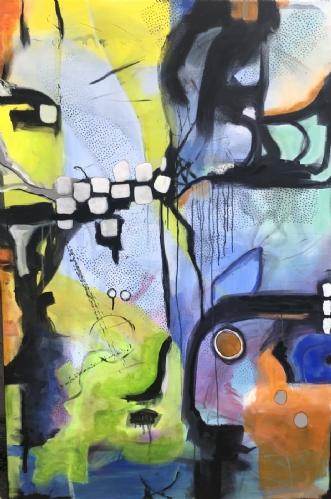 BLÅT en tanke by Dorrit Wagner | maleri