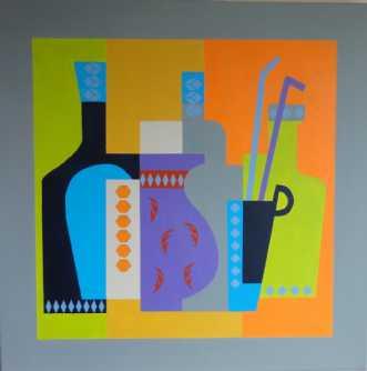 Interiør 7 by Kirsten Fagerli | maleri