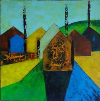 Recycled Vlll by Kirsten Fagerli | maleri