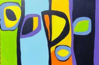 Sofastykker I by Kirsten Fagerli | maleri
