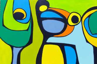 Sofastykker II by Kirsten Fagerli | maleri