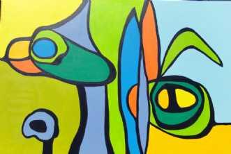 Sofastykker III by Kirsten Fagerli | maleri