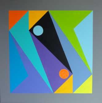 Constructive art 35 by Kirsten Fagerli | maleri