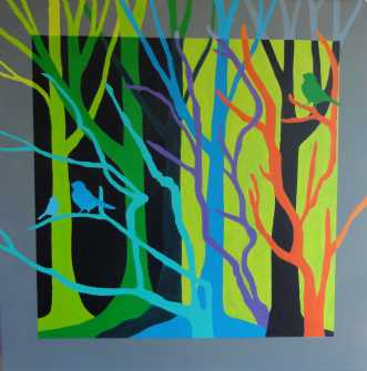 Grønne træer by Kirsten Fagerli | maleri