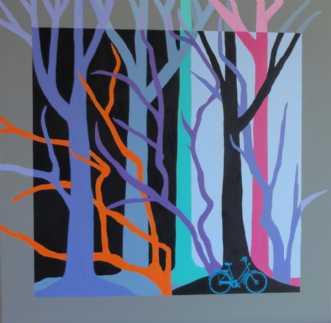 Blå træer by Kirsten Fagerli | maleri