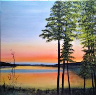 Åbent landskab  Tus.. by Kirsten Adrian | maleri