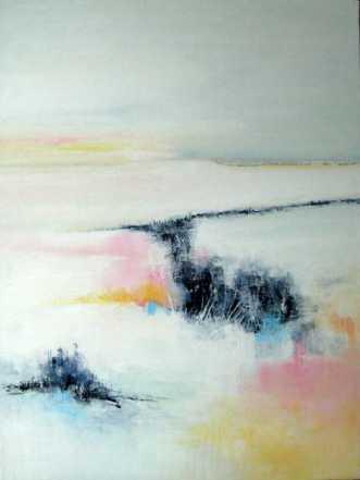 Åbent landskab 1 by Kirsten Adrian | maleri