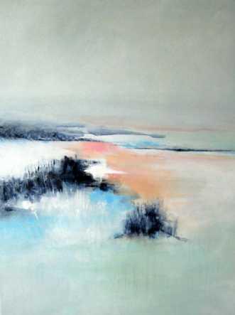 Åbent landskab 2 by Kirsten Adrian | maleri