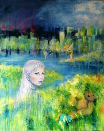 Storbyens glemte by Kirsten Adrian | maleri