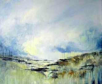 Åbent landskab 6 by Kirsten Adrian | maleri