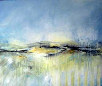 Åbent landskab 4 by Kirsten Adrian | maleri