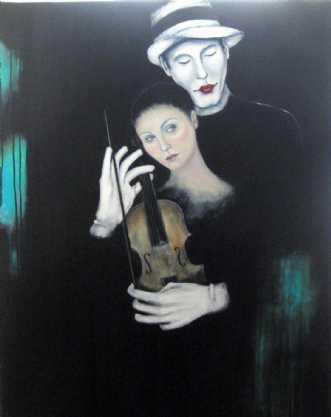 Lad musikken spille by Kirsten Adrian | maleri