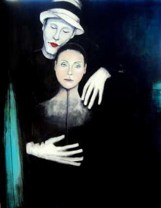 Lad maskerne falde by Kirsten Adrian | maleri