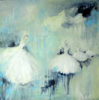 Balletten danser 1 by Kirsten Adrian | maleri