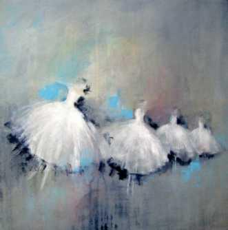 Balletten danser 2 by Kirsten Adrian | maleri