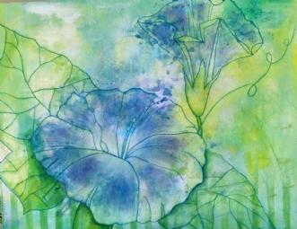 Blå snerle by Kirsten Adrian | maleri