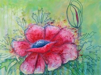 Valmue by Kirsten Adrian | maleri