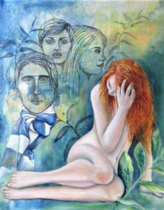 Pigesind by Kirsten Adrian | maleri