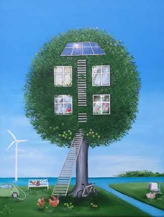 'NYT I BO- miljø og klima' | Maleri