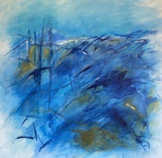 Le phare by Birthe Villauma | maleri